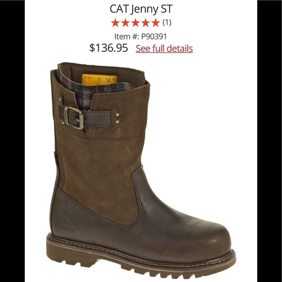 6b071c93fb3 Caterpillar Jenny steel toe work boot with plaid Boutique